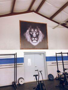 lion-wall-mural